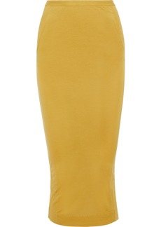 Rick Owens Lilies Woman Split-back Jersey Midi Skirt Marigold