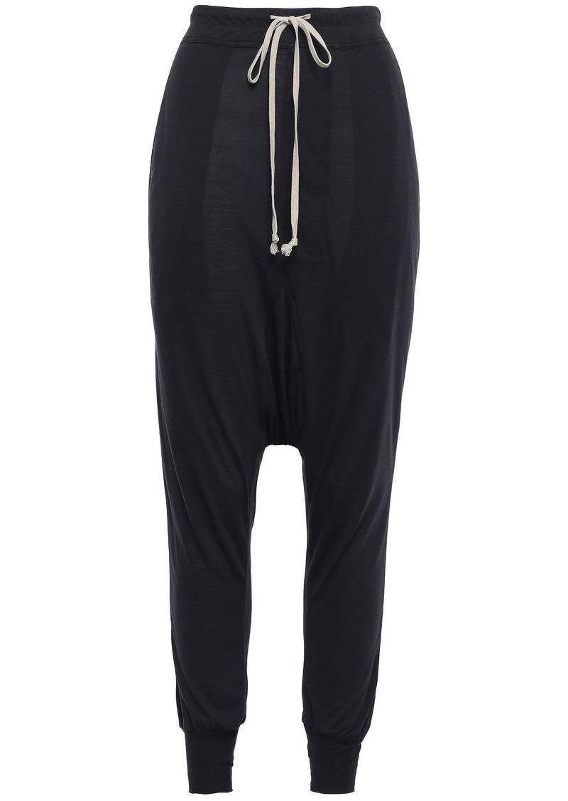 Rick Owens Lilies Woman Stretch-jersey Harem Pants Black