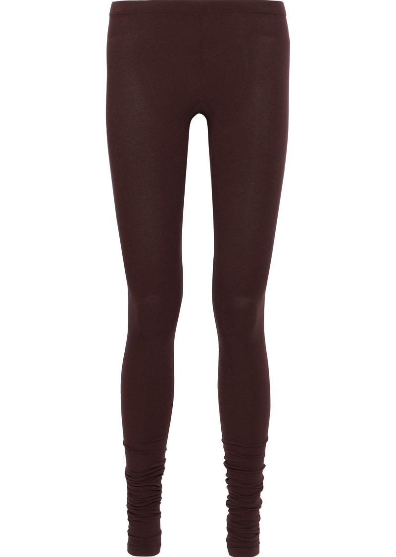 Rick Owens Lilies Woman Stretch-jersey Leggings Burgundy