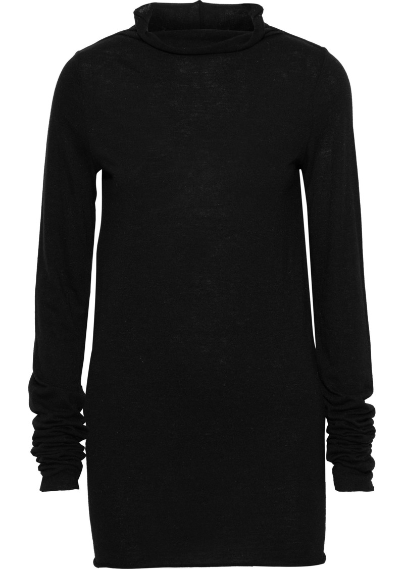 Rick Owens Lilies Woman Stretch-jersey Top Black