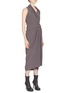 Rick Owens Limo Silk Wrap Dress