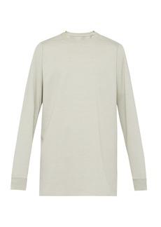 Rick Owens Long-length cotton sweatshirt