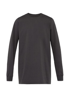 Rick Owens Long-line cotton sweatshirt