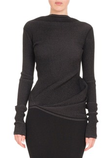 Rick Owens Long-Sleeve Boat-Neck Knit Top