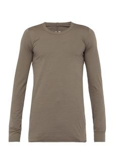 Rick Owens Long sleeved cotton-jersey T-shirt