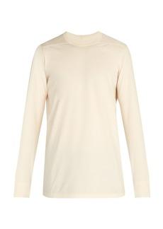 Rick Owens Long-sleeved cotton-jersey T-shirt