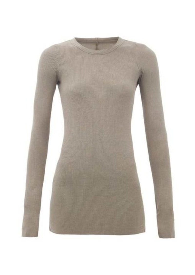 Rick Owens Long-sleeved ribbed-jersey T-shirt