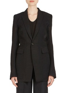 Rick Owens Long Wool & Silk Blazer