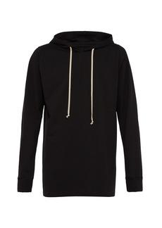 Rick Owens Longline cotton hooded sweatshirt