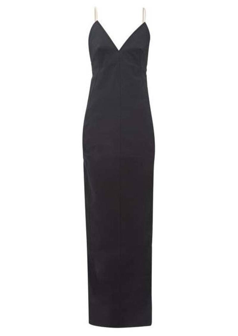 Rick Owens Maillot shoelace-strap cotton-blend dress