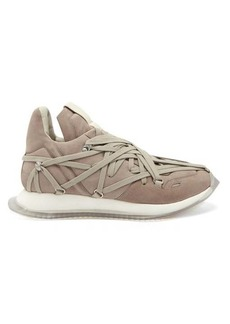 Rick Owens Maximal Runner laced leather trainers