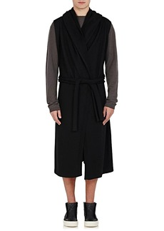 Rick Owens Men's Cashmere Hooded Robe Sweater