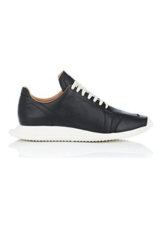 Rick Owens Men's Geometric-Sole Leather Sneakers