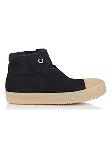 Rick Owens Men's Island Dunk Reverse-Leather Sneakers
