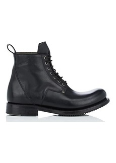 Rick Owens Men's Leather Lace-Up Boots