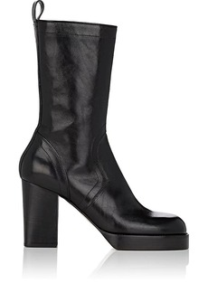 Rick Owens Men's Leather Side-Zip Boots