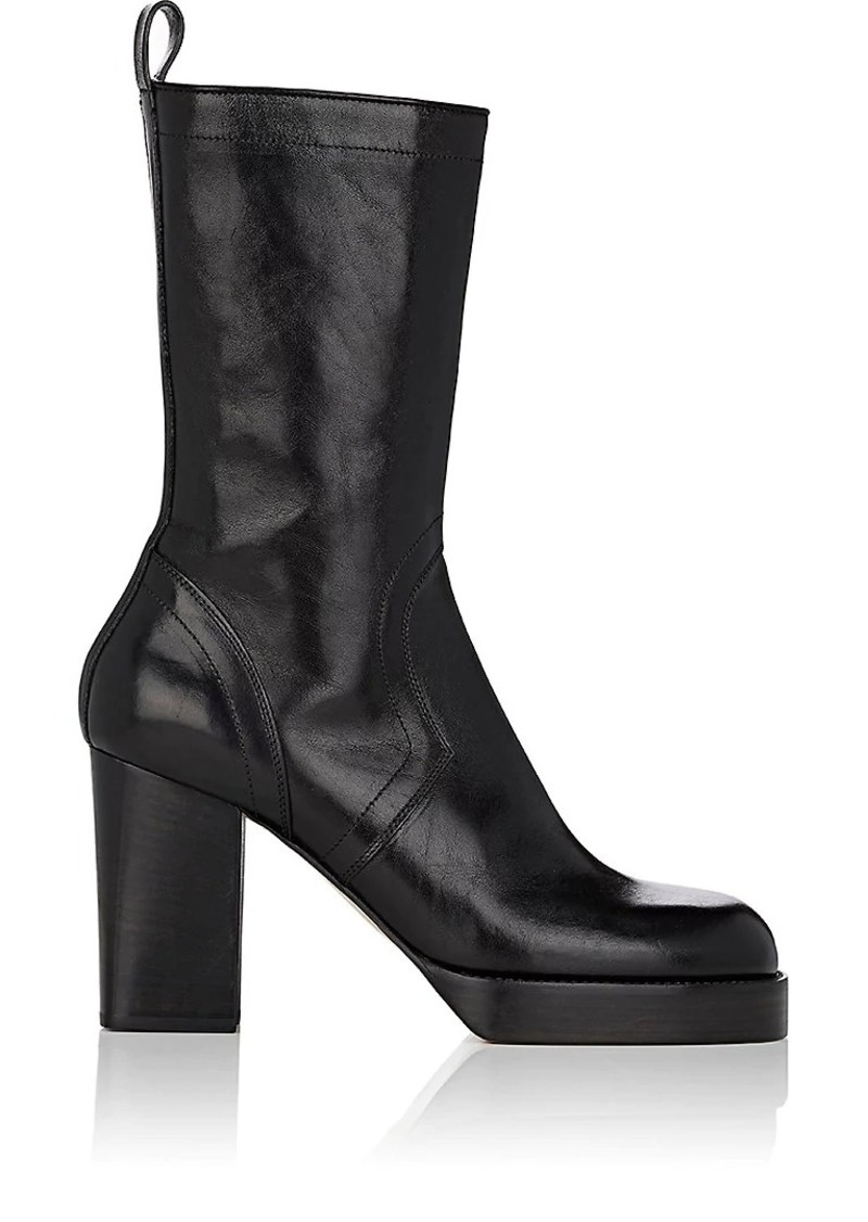 20f3b76919e On Sale today! Rick Owens Rick Owens Men s Leather Side-Zip Boots