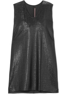 Rick Owens Metallic Crepe Mini Dress