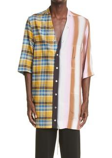 Rick Owens Mixed Print Shirt