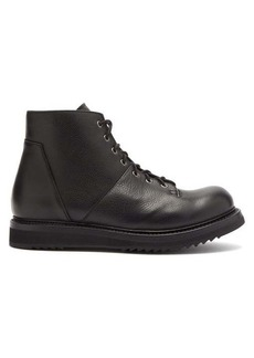 Rick Owens Monkey panelled leather boots