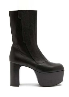 Rick Owens Motocross Kiss leather platform boots