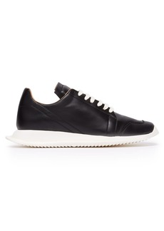 Rick Owens Oblique leather trainers