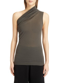 Rick Owens One-Shoulder Cashmere Blend Top