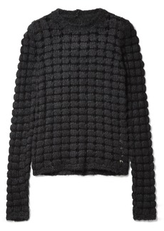 Rick Owens Open-knit Silk And Cotton-blend Sweater