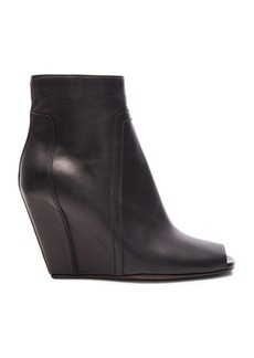 Rick Owens Open Toe Leather Booties