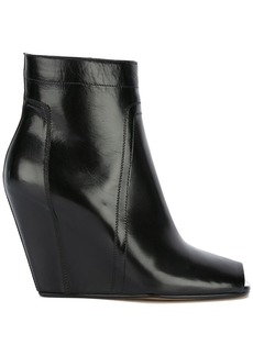 Rick Owens open-toe wedge ankle boots - Black