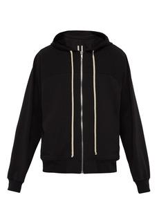 Rick Owens Oversized hooded cotton sweatshirt