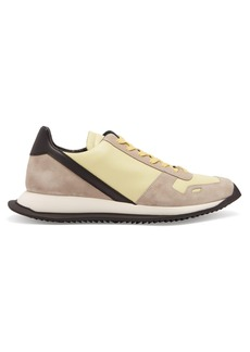 Rick Owens Panelled leather low-top trainers