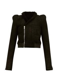 Rick Owens Panelled shearling jacket