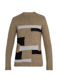 Rick Owens Patchwork wool sweater