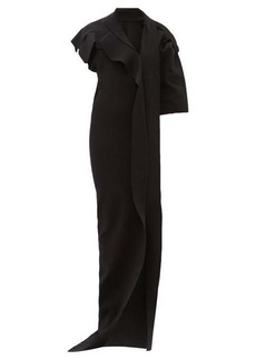 Rick Owens Patti asymmetric cut-out knitted maxi dress