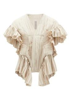 Rick Owens Poblamna peplum cotton-poplin occasion jacket