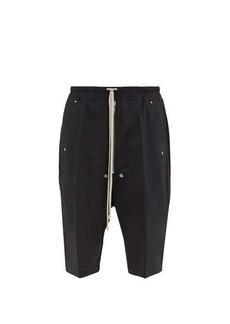 Rick Owens Pressed-crease crepe basketball shorts