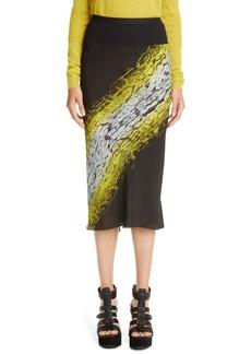 Rick Owens Print Bias Cut Skirt