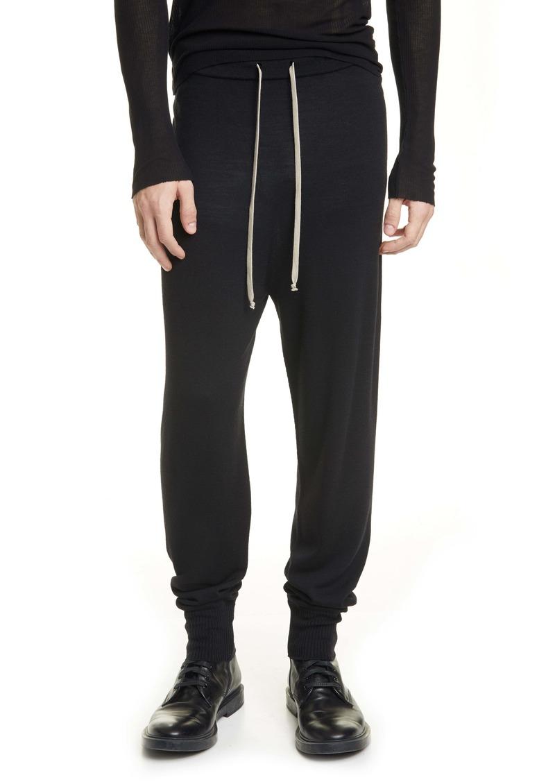 Rick Owens Wool Drawstring Track Pants