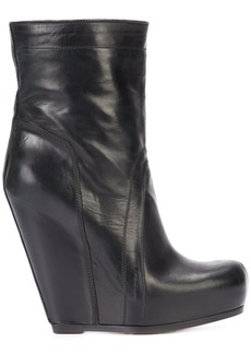 Rick Owens pull-on wedge boots - Black