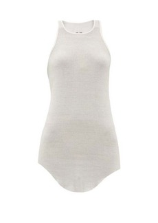 Rick Owens Racer-back ribbed-knit tank top