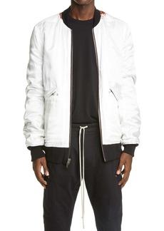 Rick Owens Reversible Cotton & Wool Bomber Jacket