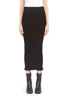 Rick Owens Ribbed Knit Mini Skirt