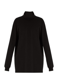Rick Owens Roll-neck cotton-jersey sweater