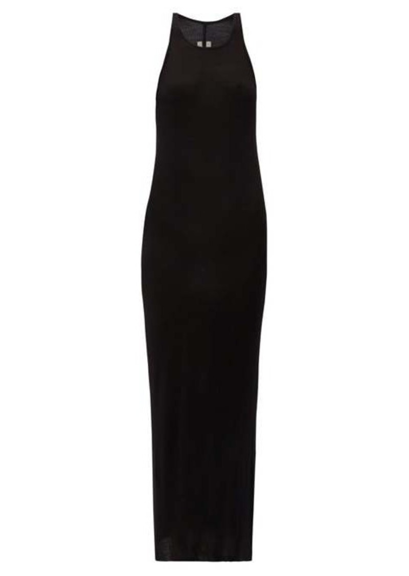 Rick Owens Round-neck ribbed-jersey dress