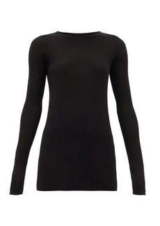 Rick Owens Round-neck ribbed-jersey long-sleeved T-shirt