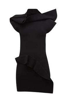 Rick Owens Sarah open-back ruffled-panel mini dress
