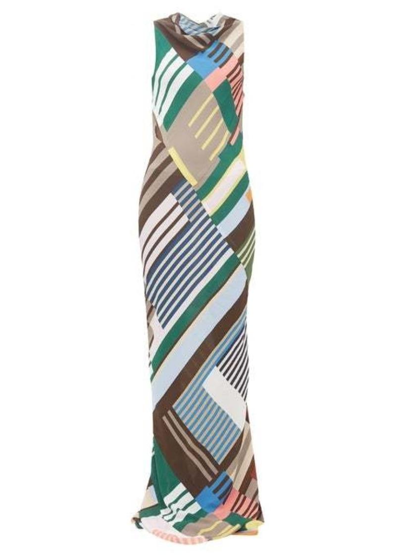 Rick Owens Scorpio abstract-print crepe dress