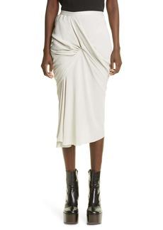 Rick Owens Seb Asymmetrical Midi Skirt
