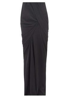Rick Owens Seb draped crepe maxi skirt